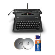 Royal Epoch 11 Inch Portable Manual Typewriter With Case And Extra Ribbon Bundle