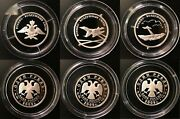 Russia Set Of 3 Silver Coins 1 Ruble 2009 Air Force