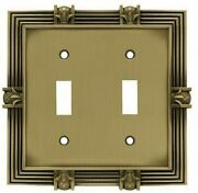 Franklin Brass 64470 Pineapple Double Switch Tumbled Antique Brass Cover Plate