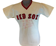 Luis Tiant Twice Signed Boston Red Sox Jersey W/ Tag Swap From The Fours Bar