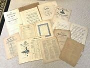 Mixed Lot 11 Pcs Antique French German Piano Sheet Music 1800s Chippy Fragile