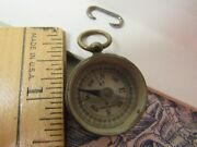 Vtg. Small Brass Compass Made In Germany