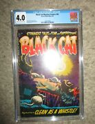 Black Cat Mystery 49 Cgc 4.0 Rat Bites Clean As A Whistle 1954 Harvey Nostrand