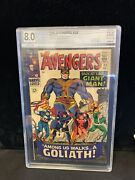 Avengers 28 First Collector Cgc 8.0 Ow-wp Casde Is Cracked