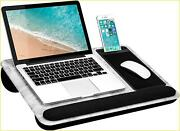 Lapgear Home Office Pro Lap Desk With Wrist Rest, Mouse Pad, And Phone Holder -