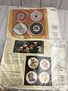 Vintage The Creative Circle Ornament And Jar Topper Kits 2278 And 2308