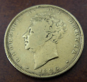 Great Britain 1825 Gold Sovereign Vf George Iv