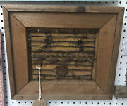 Vintage Framed Barbed Wire Display By Antique Barbed Wire Pictures Spicewood Tx