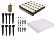Denso Filters 8 Ignition Coils And 8 Spark Plugs Tune Up Kit For Lexus Toyota V8