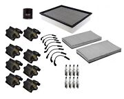Denso Filters Wires 8 Ignition Coils 8 Spark Plugs Tune Up Kit For Chevy Gmc V8