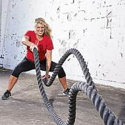 Fitness Power Rope- Commercial Grade Quality- Battle Rope Strength Endurance