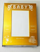 Gold Baby 3x5 Birth Record Picture Frame New In Pack 135-gold