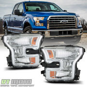 Replacement [left+right] Headlamps For 2015-2017 Ford F150 Halogen Headlights