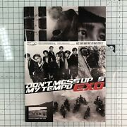 Exo Official Don't Mess Up My Tempo Notebook For Stickers New