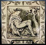 Rare Large 8 Wedgwood A Midsummer Night's Tile By Helen Miles - 1878