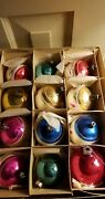 Antique Mercury Glass Christmas Ornaments In Box German And Shiny Brite