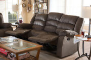Baxton Studio Hollace Modern And Contemporary Taupe Microsuede 3-seater Recliner
