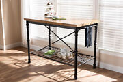 Baxton Studio Perin Vintage Rustic Industrial Style Wood And Bronze-finished ...