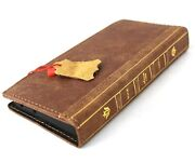 Genuine Leather Case For Samsung Galaxy S21 Ultra Wallet Book Bible Cover Soft