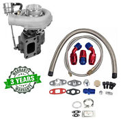 T04e T3/t4 A/r .63 400+hp Stage Iii Boost Turbo Charger+wg+oil Feed+drain Line