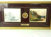 Thomas Kinkade A Perfect Day Beginning To End Lithograph S/n Signed Gold Frame