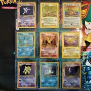 Pokemon Complete Fossil Set 62/62 1st Edition Cards Included See Photos Must See