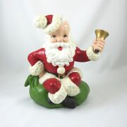 Ceramic Musical Santa Claus Is Coming To Town Vintage 1960s Atlantic Mold