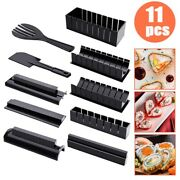 11pcs/set Sushi Maker Rice Roll Mold Kitchen Sushi Japanese Home Cooking Tools