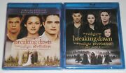 Horror Blu-ray Lot - Twilight Breaking Dawn Part 1 And Part 2 New