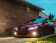 For 10-11 Toyota Camry Headlights W/drl Sequential Turn Sig.+2 Pairs H7 Bulbs