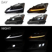 Amber Sidereflector Full Led Headlights For 2006-2012 Lexus Is F Assembly