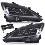 For 2006-2013 Is250/is350/is F Clear With Drl Full Led Headlights Assembly