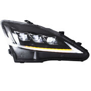 Clear Sidereflector Full Led Headlights For 2006-2013 Lexus Is250 Sedan Assembly