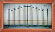 Wrought Iron Style Steel Driveway Gate 11and039 Or 12and039 Wd Home Outdoor Yard Security