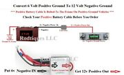 6-12 Volt Positive Ground Step Up Voltage Inverter For Radio Gps Phone Charger-p