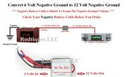 Boost 6v To12 Volt Negative Ground Step Up Voltage Radio Gps Phone Charger-gm