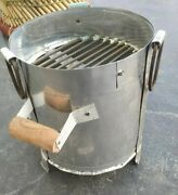 Iron Angeethi Coal And Wood Fire Indian Portable Brazier Outdoor Party Barbecue