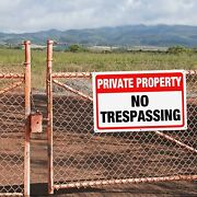 """4pcs No Trespassing Private Property Metal Sign 10.5""""x 8"""",warning Keep Out Sign"""