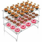 Cooling Rack 3-tier Stainless Steel Wire Rack Cooling Oven Tray