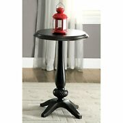 Thistle Vintage Small Round Side Table, Living Room Furniture Black Antique Usa