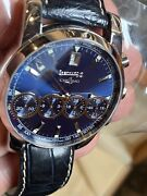 Eberhard Chrono 4 31041 Blue Dial, Blue Leather Strap With Box And Papers