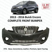 2013 2014 2015 2016 Buick Encore Front Bumper Set Upper Lower With All Grills