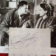 Joan Crawford Signed Paper Photo Actress Mildred Pierce Jack Carson Mgm Warners