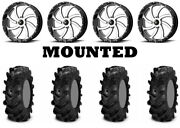 Kit 4 Itp Cryptid Tires 34x10-18 On Msa M36 Switch Machined Wheels Ter