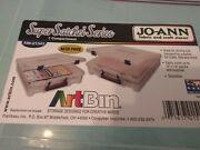 New Unused Artbin Super Satchel Clear With 4 Packages Of Sealed Diecuts