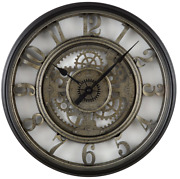Better Homes And Gardens 20 Rustic Metal Moving Gear Wall Clock Arabic Numbers