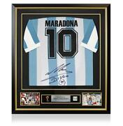 Diego Maradona Official Fifa World Cup Back Signed And Framed Argentina 1986 Hom