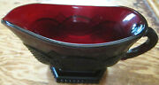 Avon 1876 Cape Cod Ruby Red Glass Collection Gravy Boat