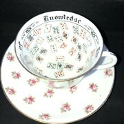 1924 Aynsley England Tea Cup Of Knowledge Fortune Telling Ra No 702537 England