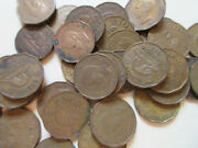 Roll Of 1942 Canada Tombak Five Cents Coins. 40 Nickel Coins Rr44